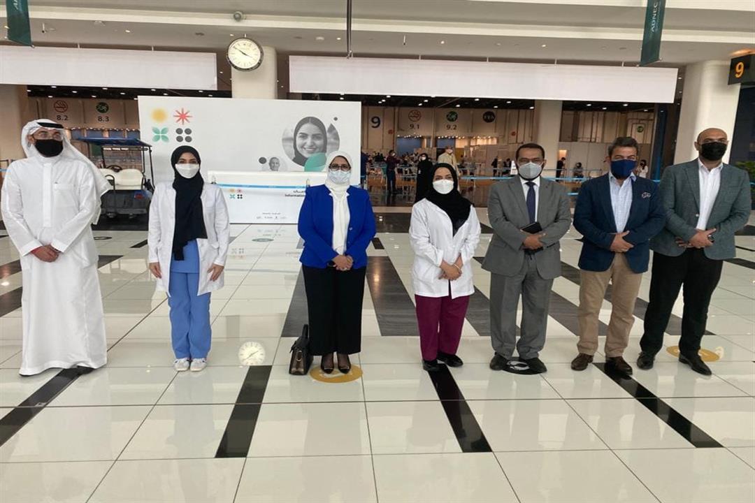 """وزيرة الصحة تبحث مع شركة """"G42"""" الإماراتية خطة توريد دفعات لقاح كورونا"""