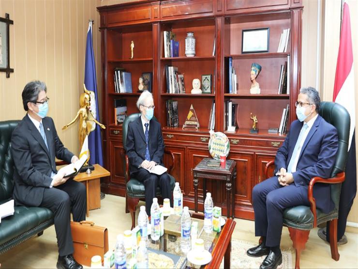 وزير السياحة يستقبل سفير اليابان بالقاهرة لمناقشة سبل التعاون على المستوى السياحي والأثري