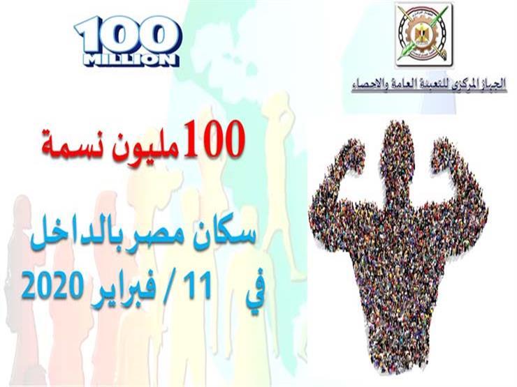 أقل زيادة في 10 سنوات.. رحلة الوصول إلى 100 مليون مصري (إنفوجرافيك)