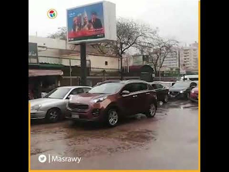 أمطار غزيرة تتسبب في شلل مروري بمدينة نصر والمهندسين (فيديو)