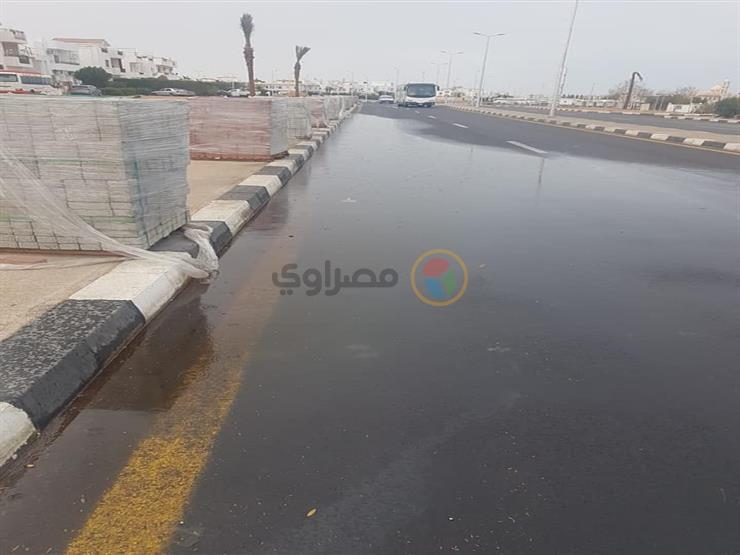 بالصور شفط مياه الأمطار بشوارع مدينة شرم الشيخ مصراوى