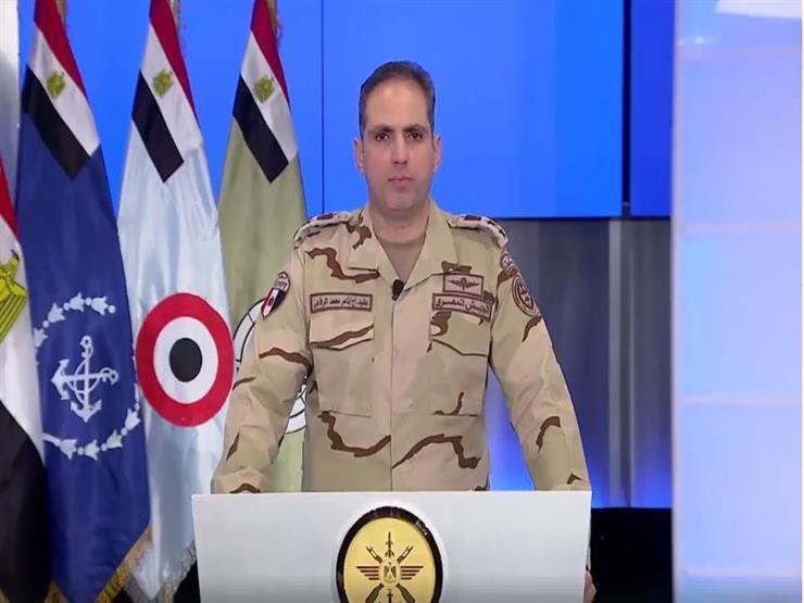 المتحدث العسكري: استشهاد وإصابة 3 ضباط و4 جنود في شمال سيناء