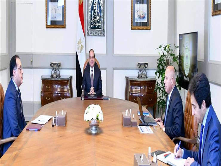 السيسي يبحث سداد 250 مليار جنيه مديونية السكة الحديد مع رئيس الوزراء ووزير النقل