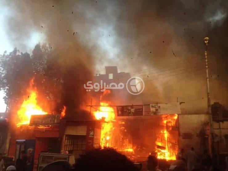 إصابة 7 من أسرة واحدة في حريق 3 منازل ببني سويف