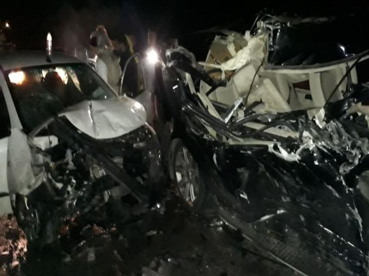 إصابة 4 أشخاص في تصادم سيارتين أعلى الطريق الدائري