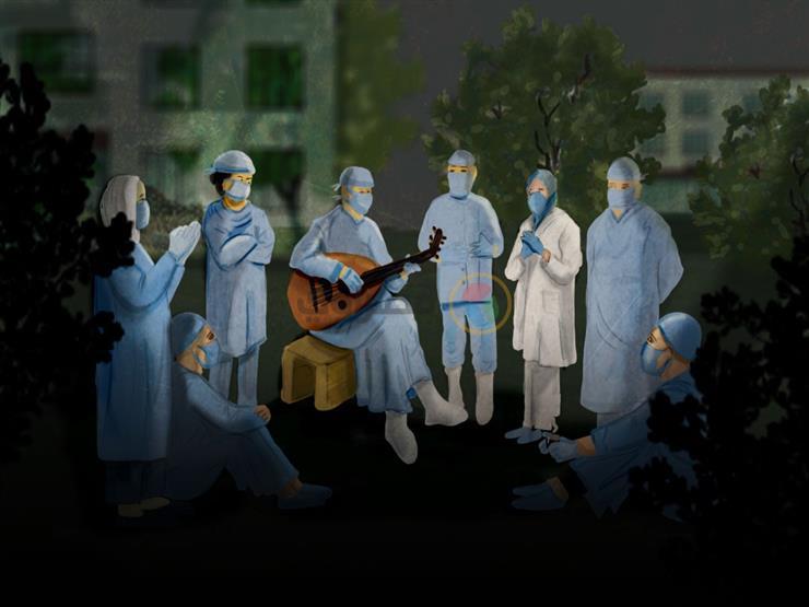 """ونس في العزل.. تفاصيل البهجة داخل """"مستشفيات كورونا"""" (ملف خاص)"""