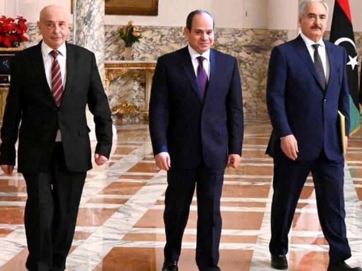 بحضور رئيس المخابرات.. السيسي يستقبل المشير حفتر ورئيس مجلس النواب الليبي