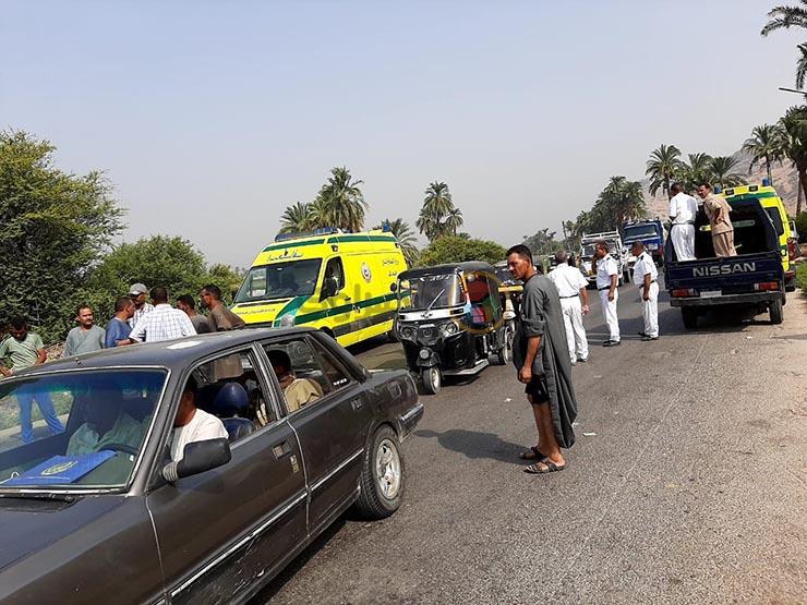 إصابة 5 أشخاص في حادث تصادم ببني سويف