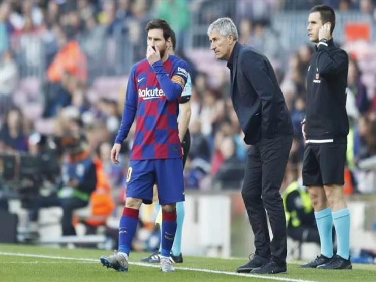 الكشف عن حديث ناري بين مدرب برشلونة السابق وميسي