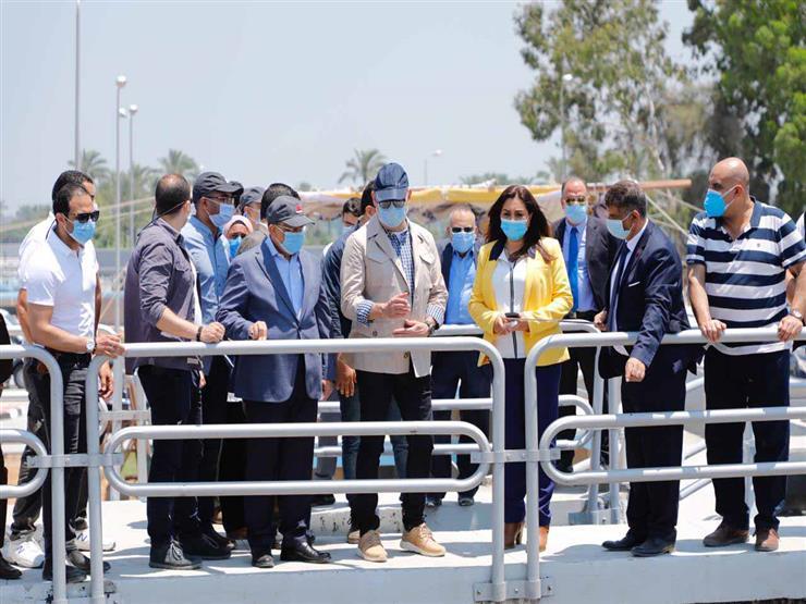 وزيرا التنمية المحلية والإسكان يتابعان مشروع توسعات محطة معالجة صرف صحي برأس البر