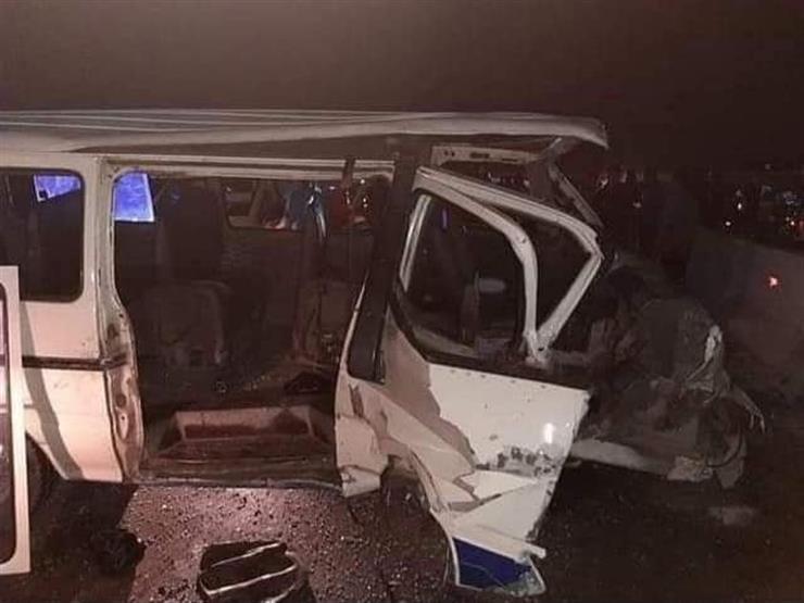 مصرع شخصين وإصابة 7 آخرين في حادث تصادم غربي قنا
