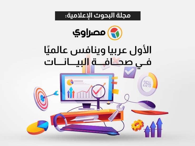 """""""البحوث الإعلامية"""": """"مصراوي"""" الأول عربيًا وينافس عالميًا في صحافة البيانات"""