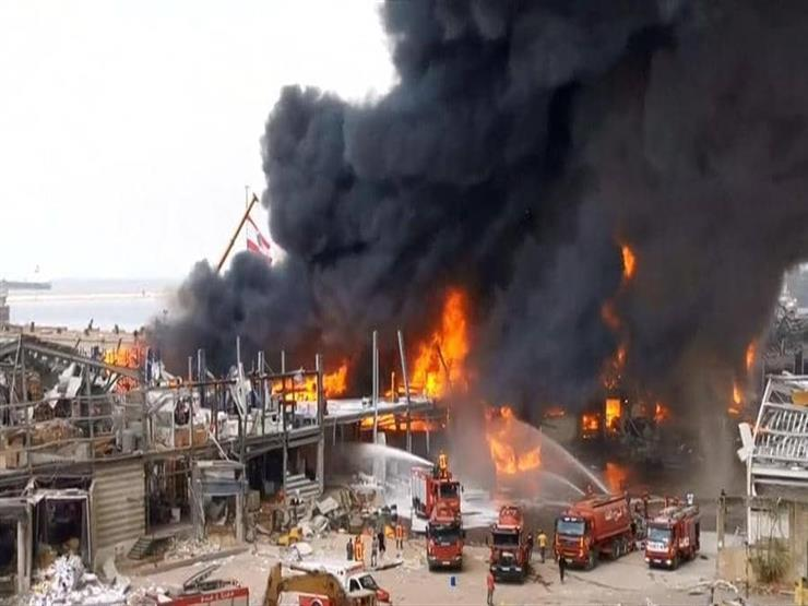 للمرة الثالثة.. حريق في مرفأ بيروت