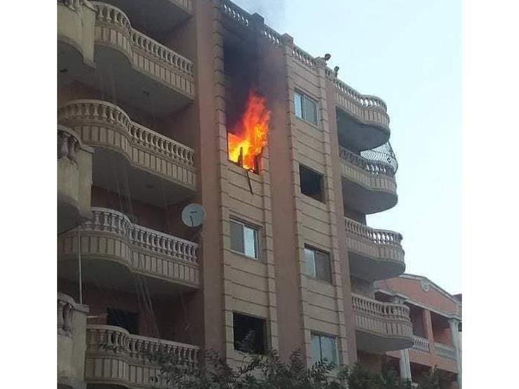 إصابة 3 أشخاص في حريق شقة سكنية بسوهاج