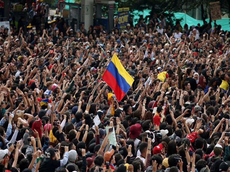 إصابة العشرات خلال احتجاجات عنيفة في كولومبيا