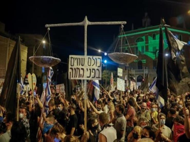 تظاهرة ضد نتانياهو في القدس هي الأولى بعد إعادة فرض الأغلاق التام في إسرائيل