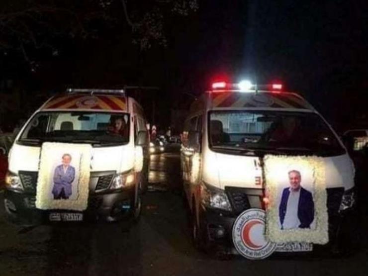 قبل دفن الجثمان.. صور المخرج حاتم علي تزين سيارات الإسعاف في سوريا