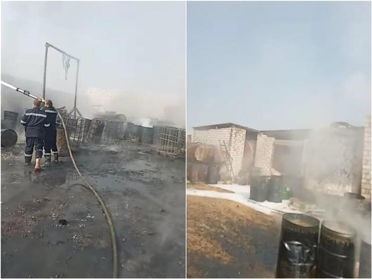مالك مصنع زيوت أطفيح يرجح: ماس كهربائي وراء الحريق