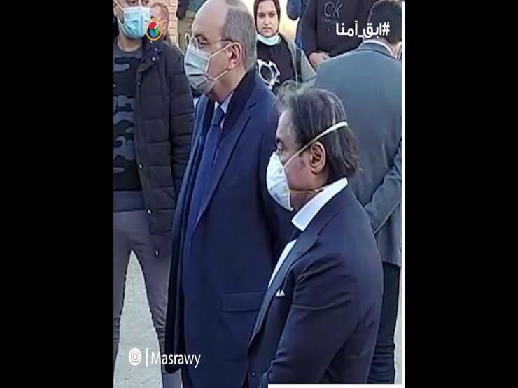 """""""أحمد عز يلقى نظرة الوادع على جثمان صفوت الشريف فى المقابر"""""""