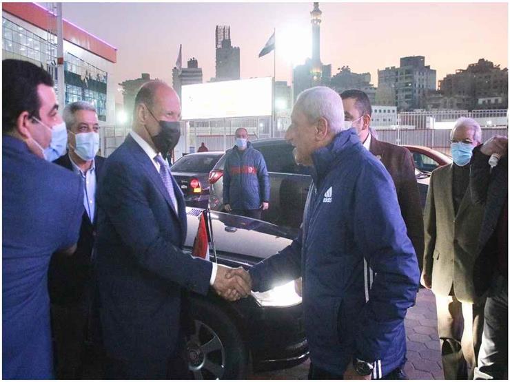 وزير الرياضة العراقي عدنان درجال يزور نادي الزمالك