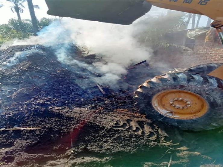 حفاظًا على البيئة.. إزالة مكمورة فحم مخالفة بدمياط