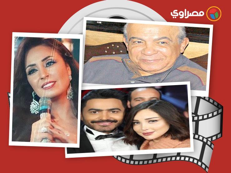 النشرة الفنية  إصابة هادي الجيار بكورونا وغناء نرمين الفقي ورقص تامر حسني وزوجته