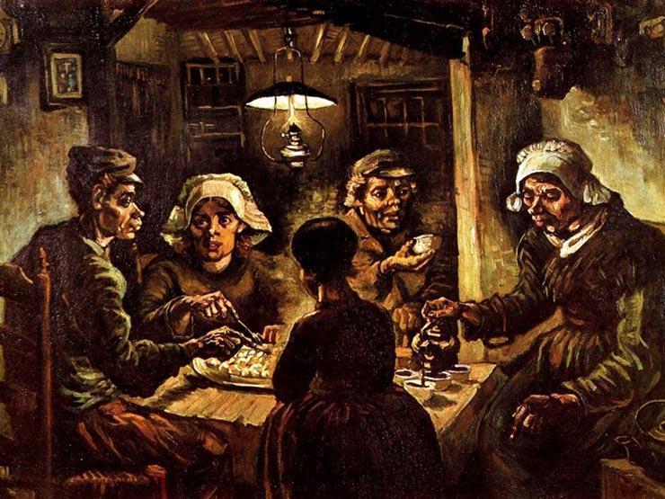"""""""آكلو البطاطا""""... تحفة فنية مثيرة للجدل بمتحف فان جوخ في أمستردام thumbnail"""