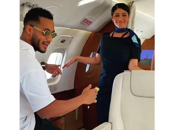 بعد واقعة الرقص.. مصادر بسلطة الطيران تكشف عن جنسية طاقم ضيافة طائرة محمد رمضان