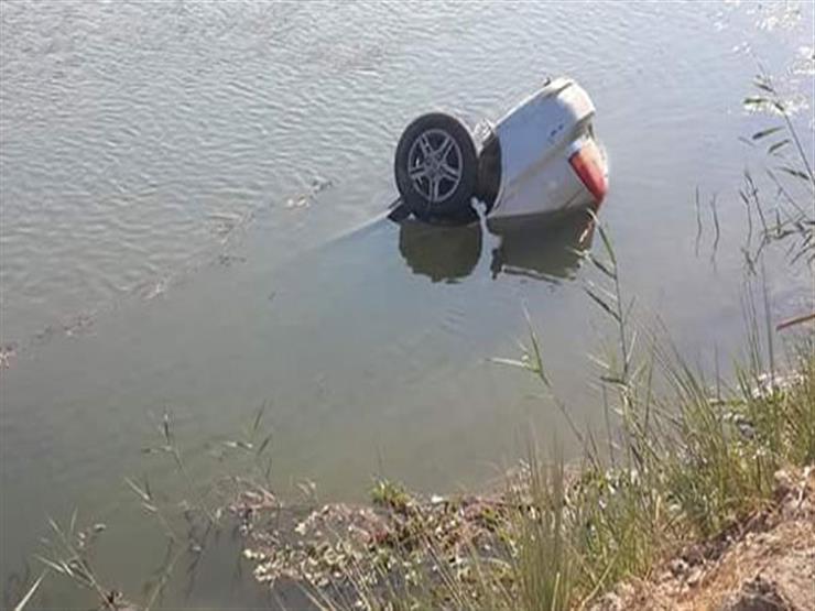 مصرع شخص وإنقاذ اثنين إثر سقوط سيارة بترعة المريوطية