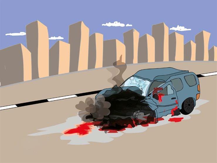 مصرع شخص وإصابة 6 آخرين في حادث سير بأسيوط