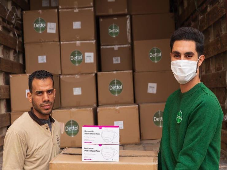 """""""ديتول"""" توفر 190 ألف قناع طبي لأطقم الأطباء والتمريض بالمستشفيات الحكومية"""
