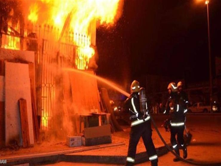 حريق هائل داخل مخزن قطع غيار سيارات خلف قسم أول طنطا