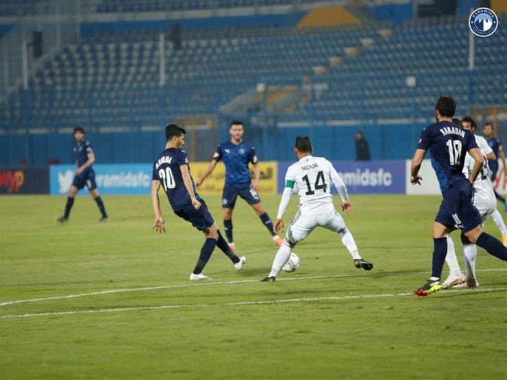 المصري يصعق بيراميدز ويبتعد بالمركز الثالث في الدوري