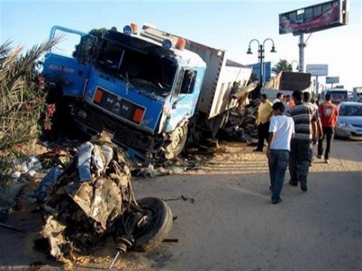 بالأسماء.. إصابة 5 عمال في تصادم 3 سيارات بالشرقية