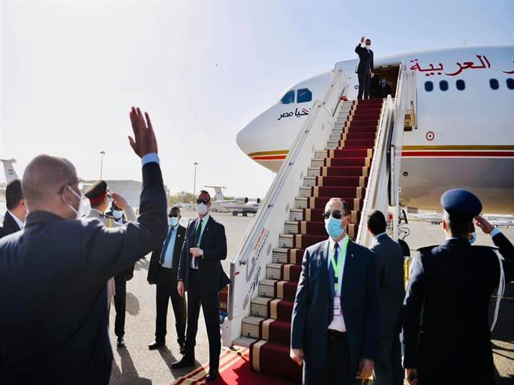 الرئيس السيسي يعود إلى أرض الوطن قادمًا من السودان