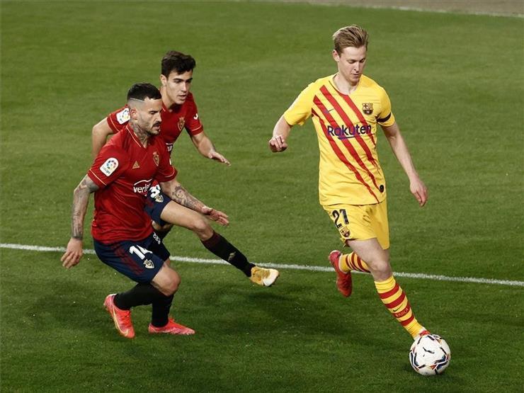 برشلونة يتخطى أوساسونا بثنائية وينفرد بوصافة الدوري الإسباني
