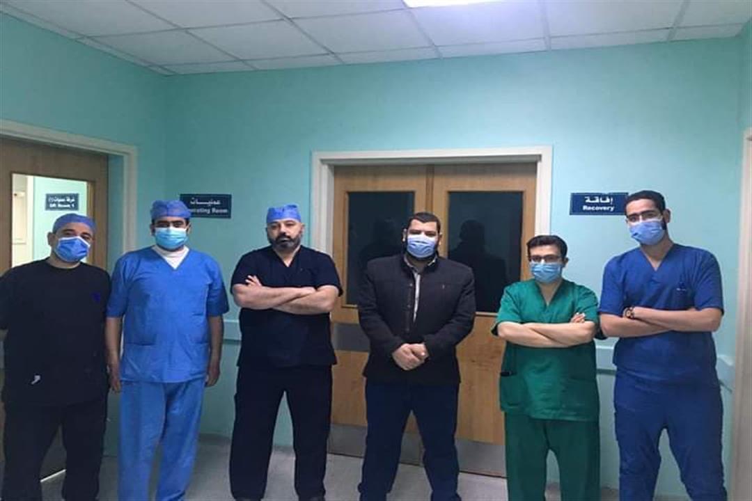 جراحة نادرة لاستئصال ورم مخاطي بمعهد قلب سوهاج