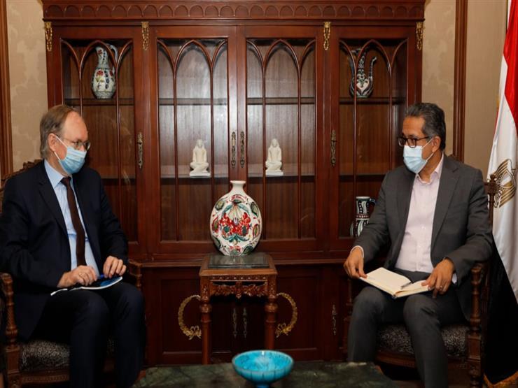 وزير السياحة يبحث مع سفير الاتحاد الأوروبي التعاون في المجال الأثري والسياحي