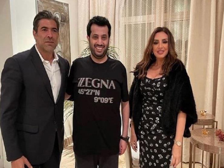 أنغام ووائل كفوري في جلسة عمل مع تركي آل الشيخ