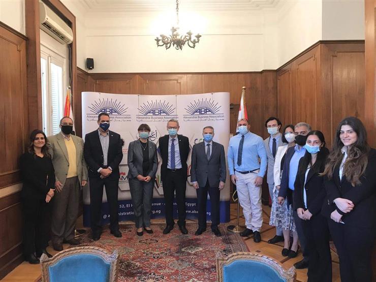 """""""رجال أعمال الإسكندرية"""" تستقبل المنسق المقيم للأمم المتحدة في القاهرة"""