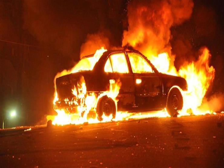 """اشتعال النيران في سيارة أمام """"ماسبيرو"""" والحماية المدنية تسيطر"""