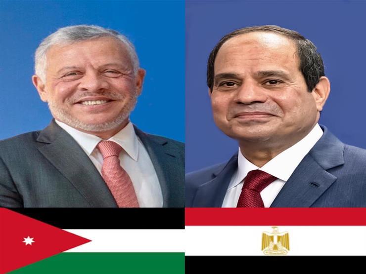 في اتصال مع الملك عبدالله.. الرئيس السيسي يؤكد تضامن مصر حكومة وشعبًا مع الأردن