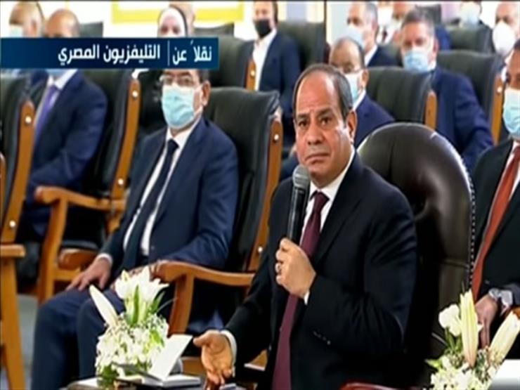 """سد النهضة.. السيسي: """"مصر موجودة من أيام ما كانت المياه بتنزل وتمشي من غير منع"""""""
