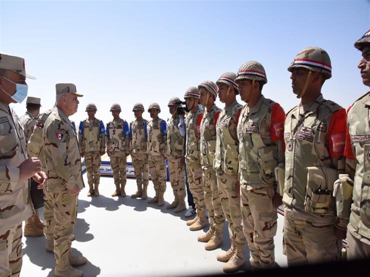 """رئيس الأركان يشهد المشروع التدريبي """"الفاتح - 2021"""" بالمنطقة الجنوبية العسكرية"""