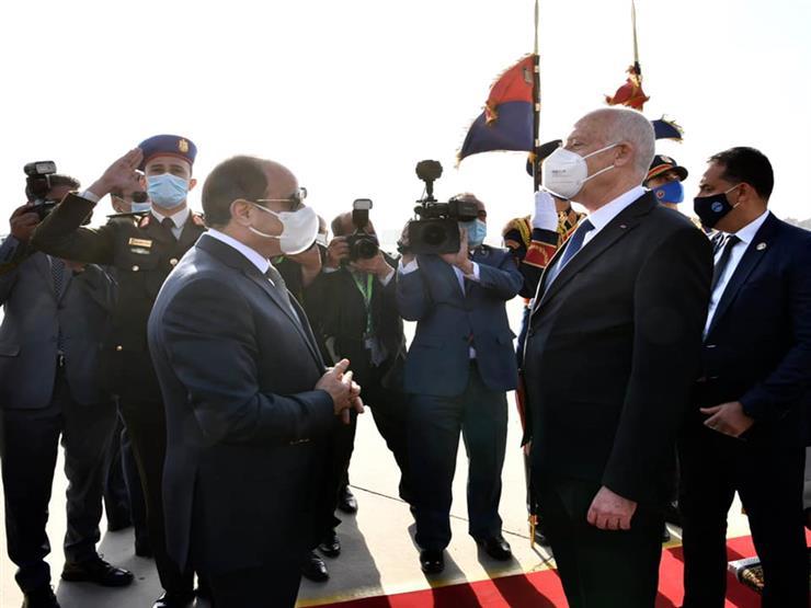 الرئيس التونسي يغادر القاهرة عقب زيارة رسمية استغرقت 3 أيام