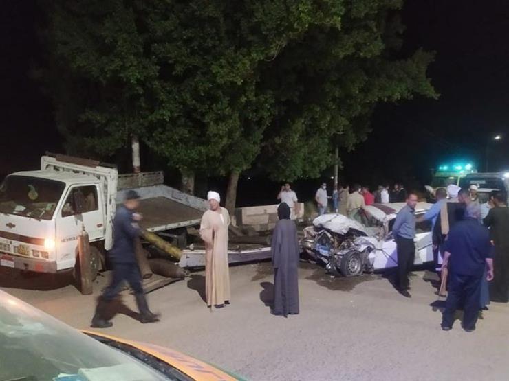 مصرع شخص وإصابة 3 في حادث تصادم بقنا