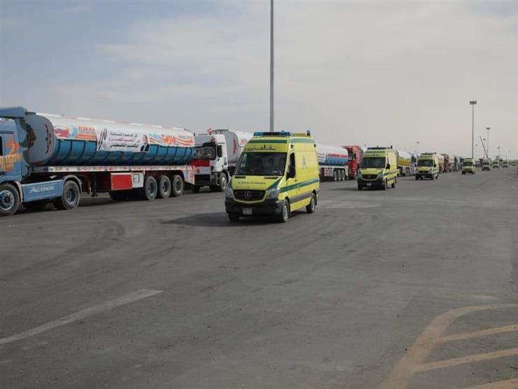 40 سيارة إسعاف لاستقبال المصابين الفلسطينيين في شمال سيناء