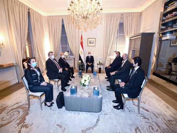 """الرئيس السيسي يؤكد اعتزاز مصر بالتعاون مع شركة """"داسو"""" للصناعات الجوية"""