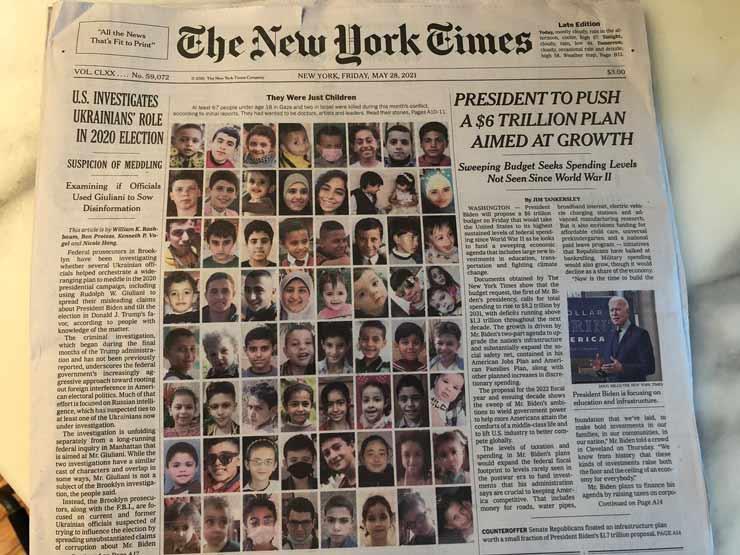 """""""كانوا مجرد أطفال"""".. نيويورك تايمز الأمريكية تنشر صور شهداء أطفال غزة"""