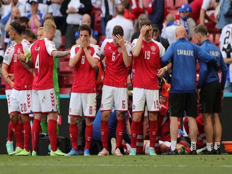 سقط مغشيا عليه.. إريكسن يثير الرعب في مواجهة الدنمارك وفنلندا (فيديو)
